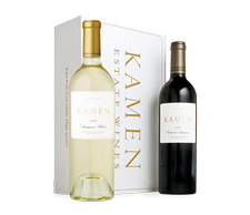 2017 Sauvignon Blanc & 2015 Cabernet in Two-Bottle White Gift Box Image